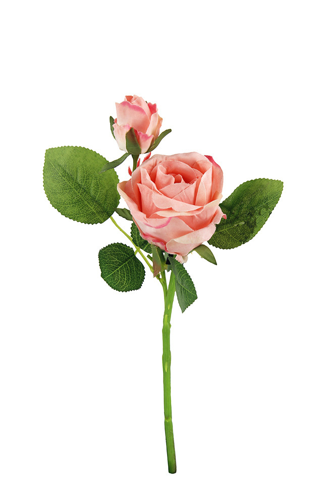 Plush Rose Bud Short Stem 27cm Holstens