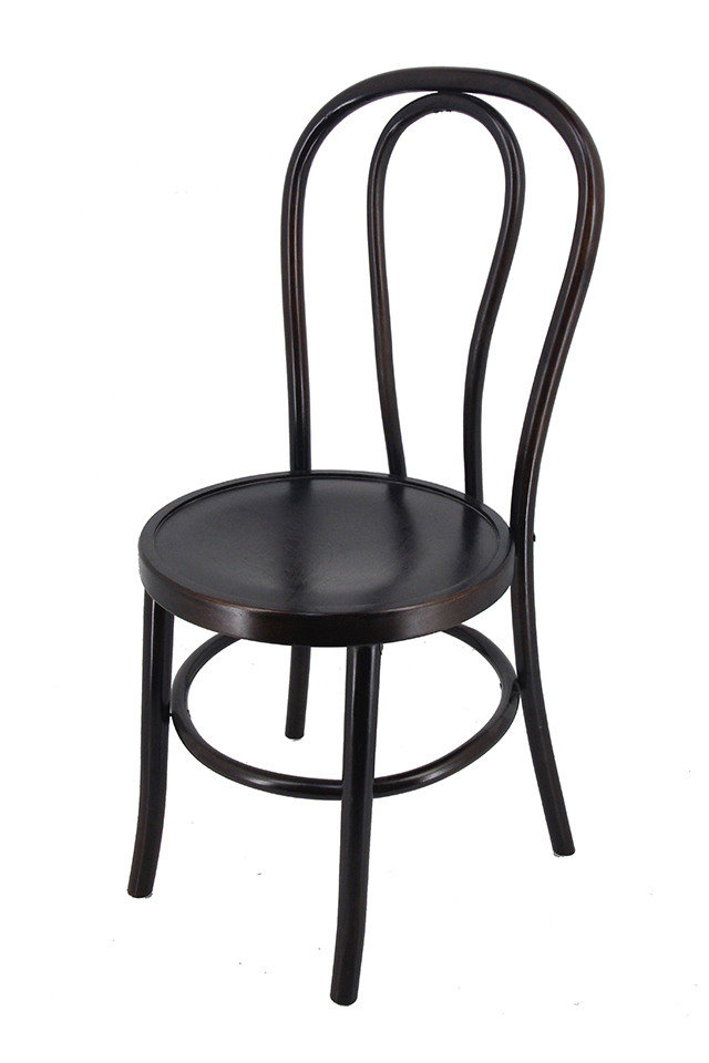 Beech Bentwood Chair   Stackable (Dark Walnut Finish)