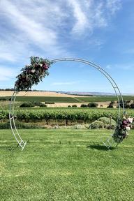Wedding Frame Round K D Base 280cmw X 230cmh Holstens